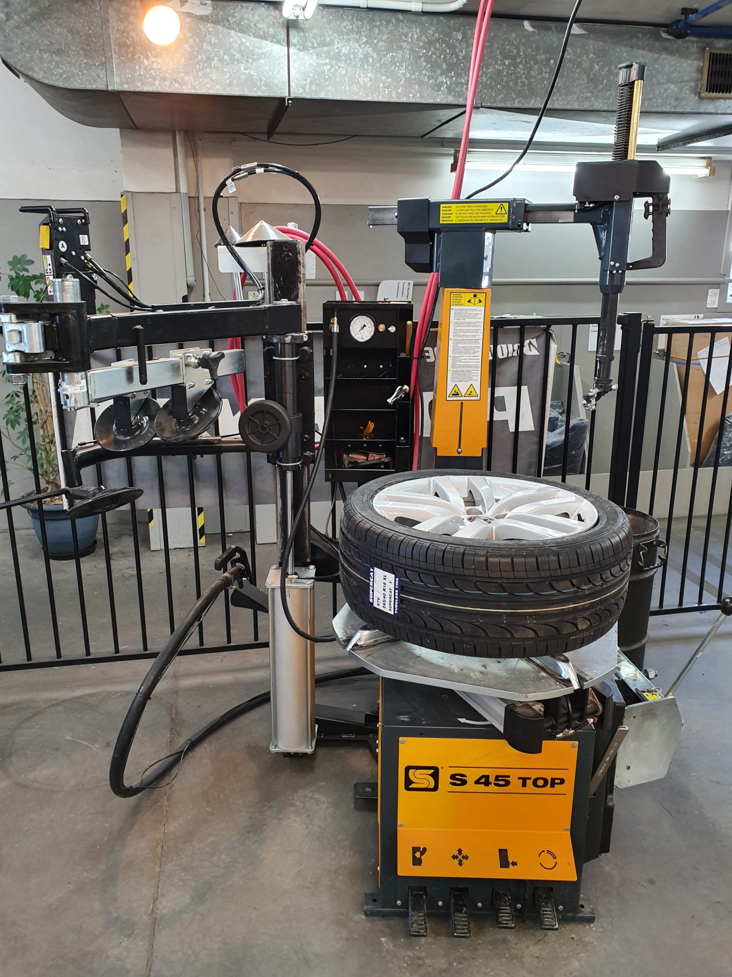 Car tire changer by Sice automotive equipment