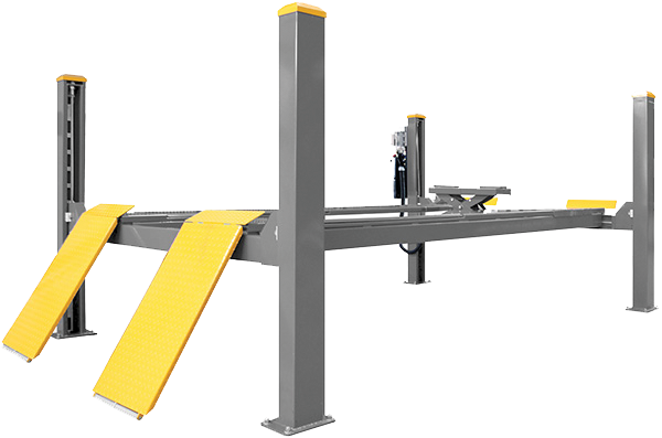 4 post vehicle hoist, wheel alignment lift